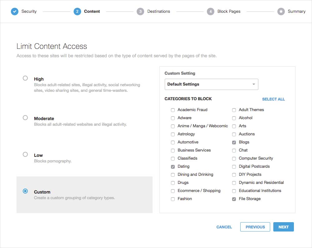 Content Filtering for web - Filter company Internet | Cisco Umbrella